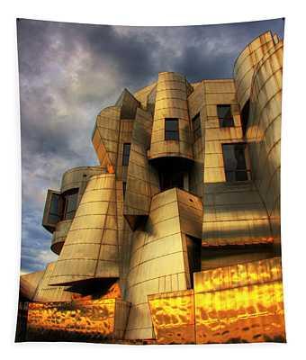 Minneapolis Skyline Photography Weisman Museum Tapestry