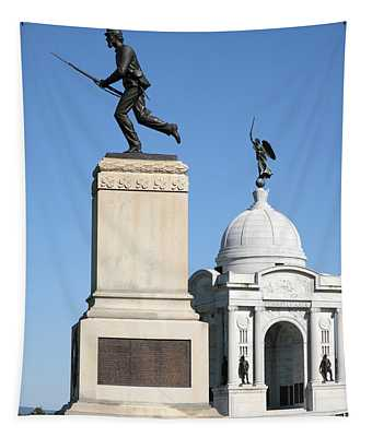 Minnesota And Pennsylvania Monuments At Gettysburg Tapestry