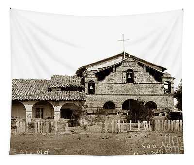 Mission San Antonio De Padua California Circa 1885 Tapestry