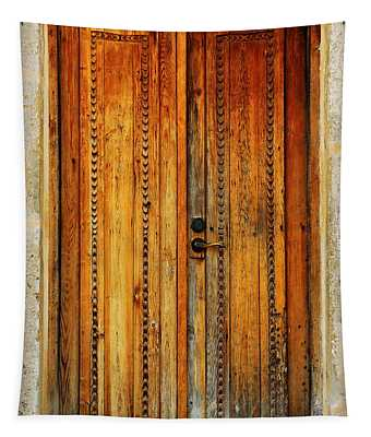 Mission San Juan Capistrano Door -- San Antonio Tapestry