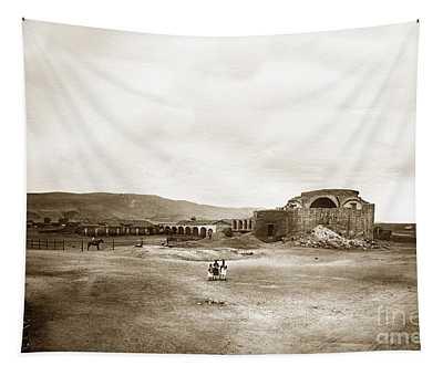 Mission San Juan Capistrano California Circa 1882 By C. E. Watkins Tapestry