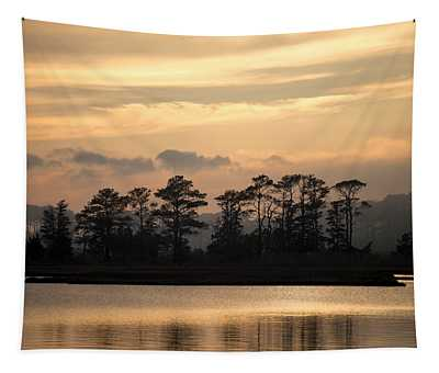 Misty Island Of Assawoman Bay Tapestry