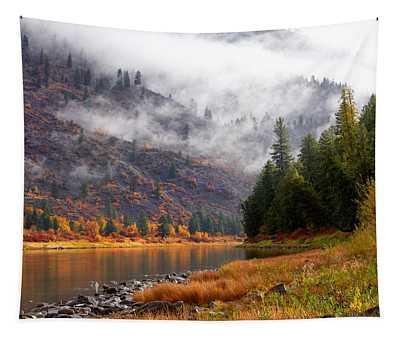 Misty Montana Morning Tapestry