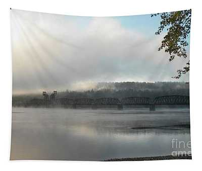 Misty Railway Bridge Tapestry