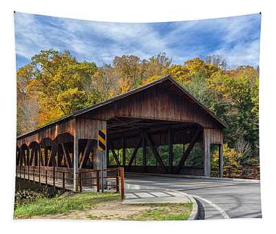 Mohican Covered Bridge Tapestry