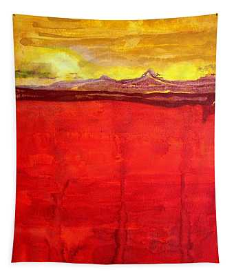 Mojave Dawn Original Painting Tapestry