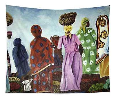 Mombasa Market Tapestry