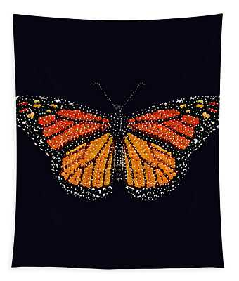 Monarch Butterfly Bedazzled Tapestry