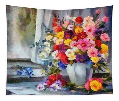 Monet Floral Edged Tapestry