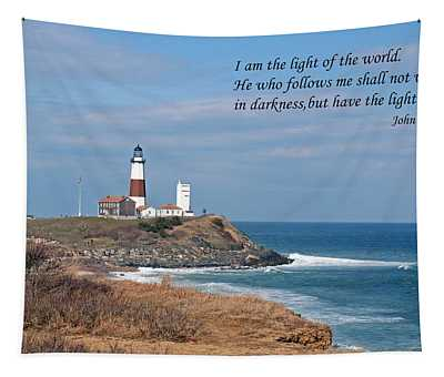 Montauk Lighthouse/camp Hero/inspirational Tapestry