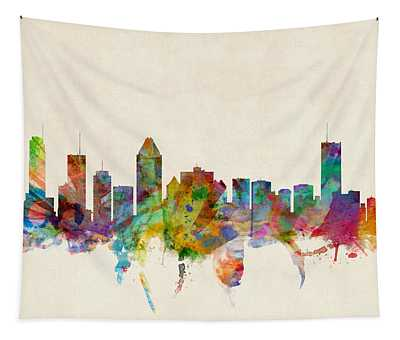 Montreal Skyline Tapestry