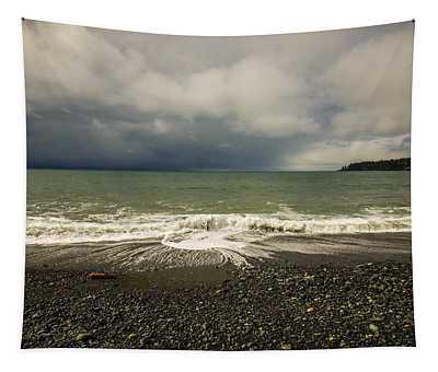 Moody Swirl French Beach Tapestry