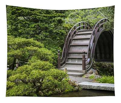 Moon Bridge - Japanese Tea Garden Tapestry