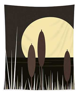 Moonlight On Loon Lake Tapestry
