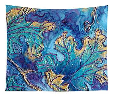 Tapestry featuring the painting Moonlight On The Vine by Sandi Whetzel