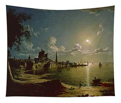 Moonlight Scene, Southampton, 1820 Tapestry