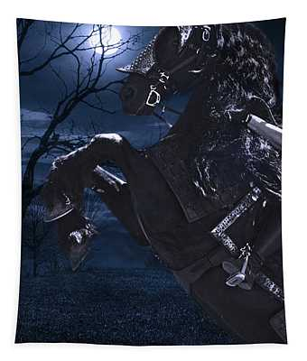 Moonlit Warrior Tapestry