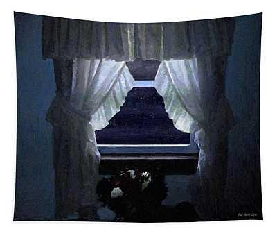 Moonlit Window Tapestry