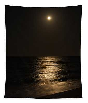 Moon Over Water Tapestry