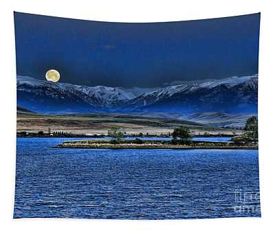 Moonset Over Cooney Tapestry