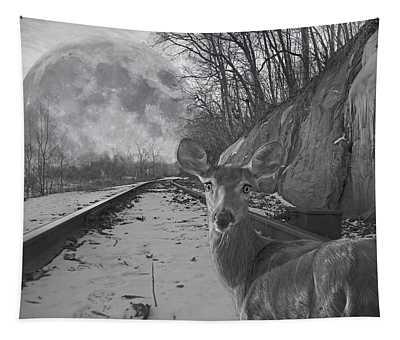 Moonshine Deer Tracks Tapestry
