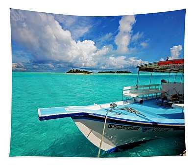 Moored Dhoni At Sun Island. Maldives Tapestry