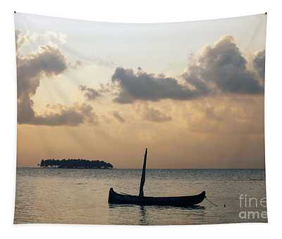 Moored For The Night Tapestry