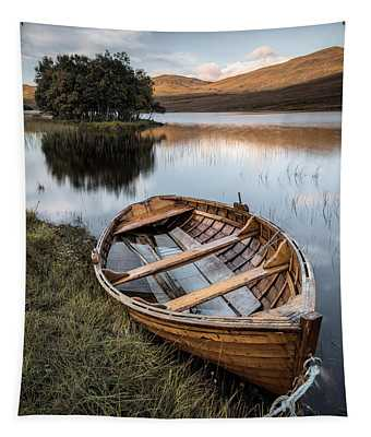Moored On Loch Awe Tapestry