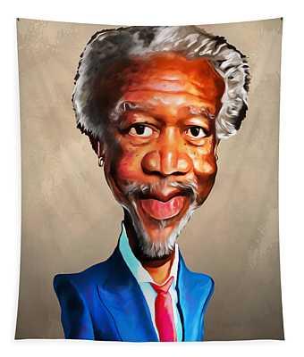 Morgan Freeman Tapestry