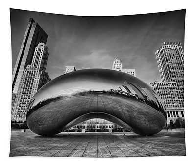 Morning Bean In Black And White Tapestry