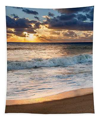 Morning Clouds Square Tapestry