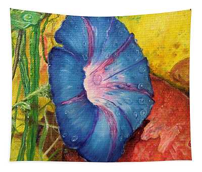 Morning Glory Bloom In Apples Tapestry