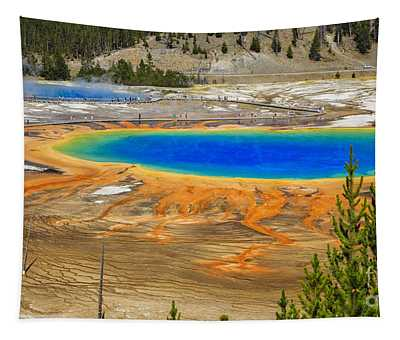 Grand Prismatic Geyser Yellowstone National Park Tapestry