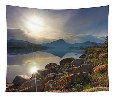 Morning On Lake Estes Tapestry