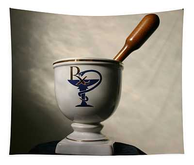 Mortar And Pestle Two Tapestry