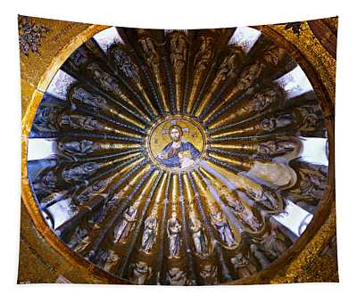 Mosaic Of Christ Pantocrator Tapestry