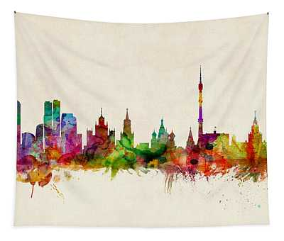 Moscow Skyline Tapestry