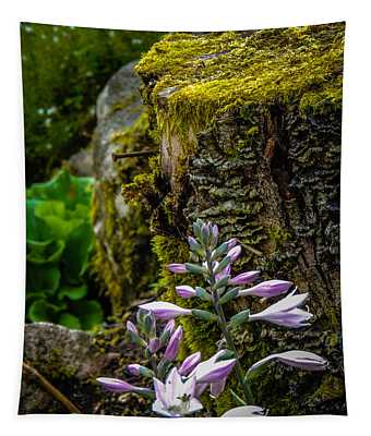 Moss And Flowers In Markree Castle Gardens Tapestry