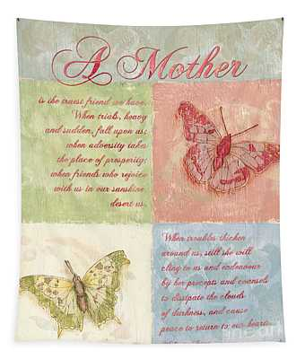 Mother's Day Butterfly Card Tapestry