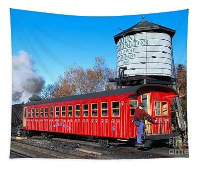 Mount Washington Cog Railway Car 6 Tapestry