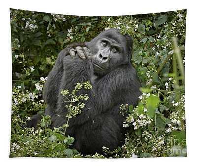 Mountain Gorilla Praying Tapestry