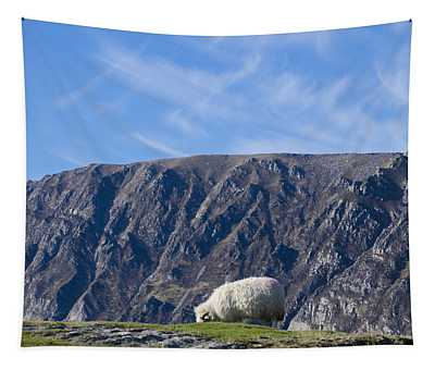 Mountain Sheep Grazing - Donegal Ireland Tapestry