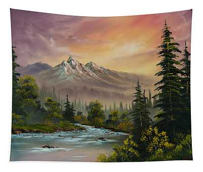 Mountain Sunset Tapestry