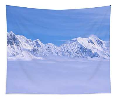 Mountains And Glaciers In Wrangell-st Tapestry