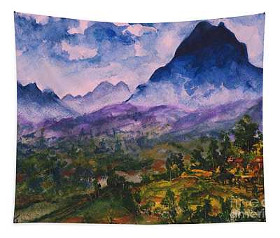 Mountains Of Pyrenees  Tapestry