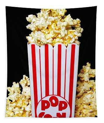 Movie Night Pop Corn Tapestry