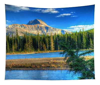 Mt Murchison And Bow River Tapestry