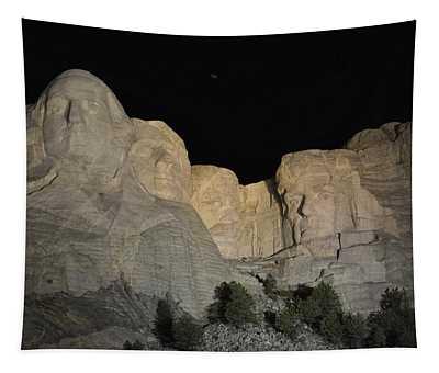 Mt. Rushmore At Night Tapestry