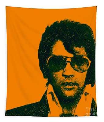 Mugshot Elvis Presley Square Tapestry