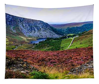 Multicolored Carpet Of Wicklow Hills. Ireland Tapestry